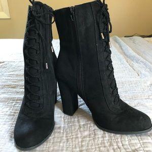 CARLOS black heeled Sandra boots | sz 10